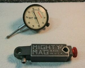 Starrett 25 111 Dial Indicator On Mighty Mag Base