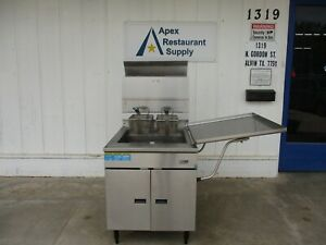 Pitco Donut Fish Chicken Fryer Model 24fss Natural Gas Works Perfect 4064