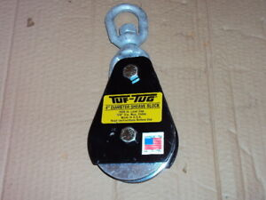 Tuf tug Sb3000e Pulley Block wire Rope 3000 Lb Load Cap
