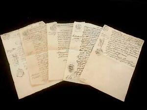 Collection Of Five Stamped Documents