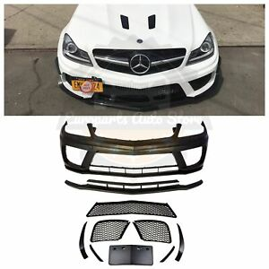 Mercedes Benz C63 Black Series 507 Front Bumper For 12 14 W204 C250 C350 W O Pdc