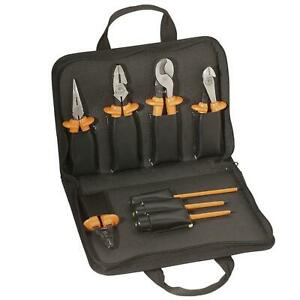 Electrical Hand Tool Set 8 Pc Premium Insulated Pliers Screwdrivers Klein Tools