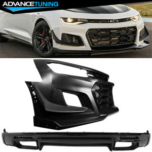 Fits 16 18 Chevy Camaro 1le Style Front Bumper Cover Oe Style Rear Diffuser Pp