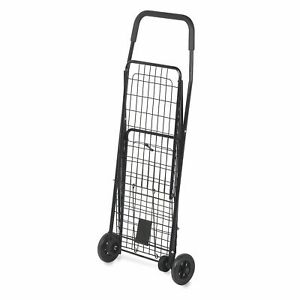Folding Utility Cart Shopping Rolling 4 wheel Grocery Laundry Hand Truck