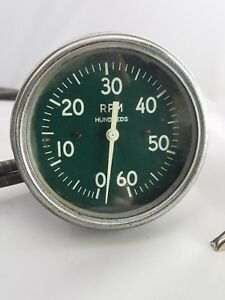 Ac 6000 Rpm Mechanical Tachometer With Cable Indy Le Mans Race Car Hot Rod