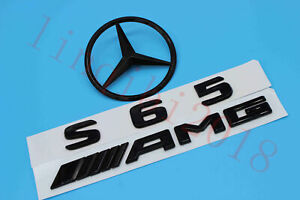 Gloss Black S65 Amg Trunk Logo Sticker Decal Emblem Badge Package For W221 S65