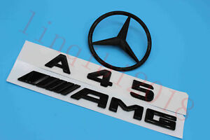 Gloss Black A45 Amg Trunk Logo Sticker Decal Emblem Badge Package For W176