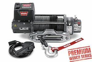 Warn 87800 M8000 S 8000 Lb Premium Series Winch 4 8hp 100 3 8 Synthetic Rope