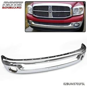 New Front Bumper Face Bar For 2002 2009 Dodge Ram 1500 2500 3500 Pickup Chrome
