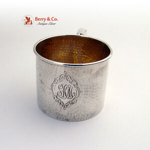 Arts And Crafts Hammered Baby Cup Sterling Silver