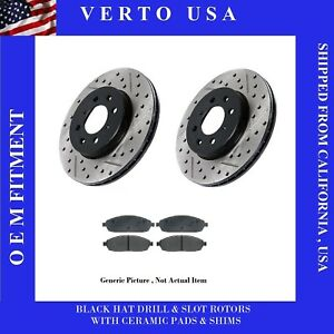 Front Brake Rotors Pads For Toyota Corolla 2003 2004 2005 2006 2007 2008