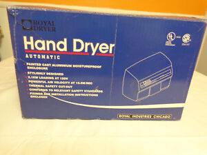 Royal Hand Dryer Automatic Commercial Electric Model Roy Dry 2200ea New Nib