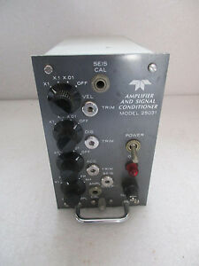 Teledyne Amplifier And Signal Conditioner 25031 Geotech