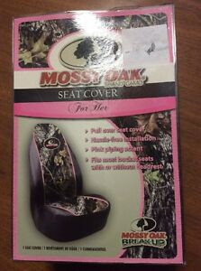 Mossy Oak Brand Break Up Camo Camouflage With Pink Universal Seat Cover