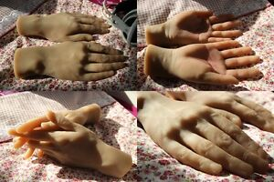 Lifelike Clone 100 Silicone Hand Male Mannequin Arbitrarily bent Soft 1pc