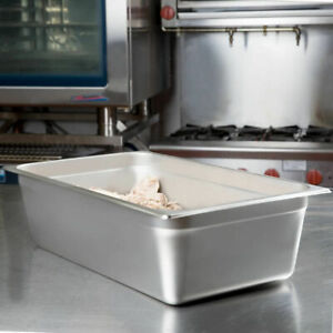 2 Pack Full Size 6 Deep Stainless Steel Steam Prep Table Hotel Buffet Food Pan
