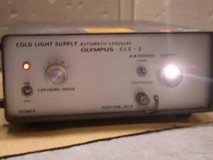 Olympus Cle 3 Endoscopy Cold Light Supply Source Free S h