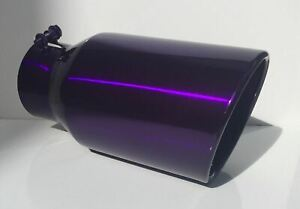 4 Inlet X 6 Outlet X 12 Long Diesel Exhaust Tip bolt On Lollypop Purple