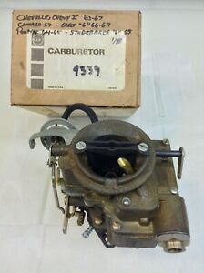 Nos Carter Yf Carburetor 4339s 1963 1967 Chevy Cars 194 230 250 Engines