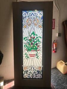 Beautiful Estate Hand Made Stained Glass Interior Or Ex Door Jhl2167 50