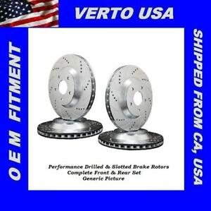 Front Rear Brake Rotors For Ford Mustang Base 2005 2006 2007 2008 2009 2010