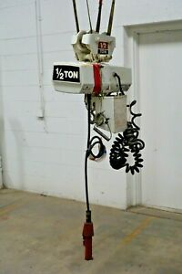 Coffing 1 2 Ton Electric Chain Hoist Trolley Ec 1008 3 230 460 3 Ph 12 Ft