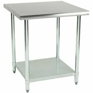 Commercial Kitchen Prep And Work Table 30 inch X 30 inch 430 Stainless Steel