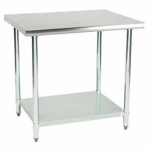 Commercial Kitchen Prep And Work Table 36 inch X 30 inch 430 Stainless Steel