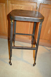 Vtg Lyon Metal Products Co Industrial Machineage Steampunk Drafting Table Stool