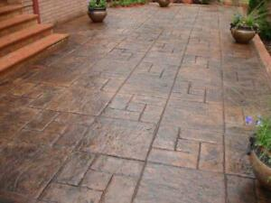 Stone Decorative Polyurethane Stamp For Concrete cover For A Floor And Paths