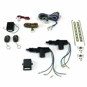 2 Door Remote Central Lock Kit Remotes Street Strip Track Drag Show Car Hotrod