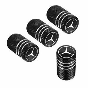 4pcs Car Wheel Tire Air Valve Caps Stem Cover Fit For Mercedes Benz Aluminum