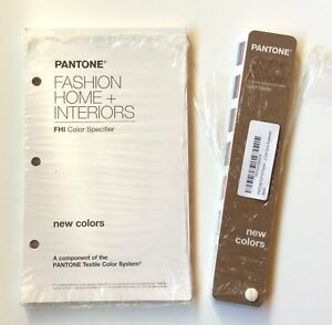 Pantone Fashion Home Interiors New Colors Supplements Fandeck