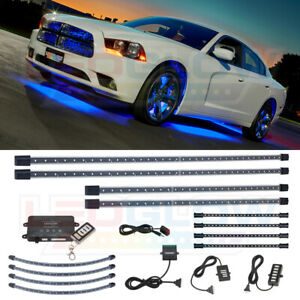 Ledglow 12pc Blue Led Undercar Wheel Well Lights W 4pc Underdash Light Kit