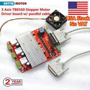us Stock 3 Axis Tb6560 Cnc Controller Stepper Motor Driver Board For Cnc Router