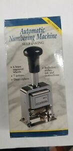 Automatic Numbering Stamp Machine With Ink And Stylus 7 Different Actions New