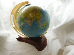 Vintage West Germany Streamlined Tin Terrestrial World Earth Ms Globe Airplanes