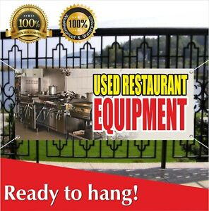 Used Restaurant Equipment Banner Vinyl Mesh Banner Sign Shop Bar Cafe