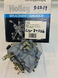 Nos Holley 1940 Carburetor R80226 1965 1969 Ford Cars 240 300 Engine