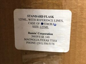 Ramin Corp Standard Flask 125 Ml W Reference Lines 6 Pcs Lab Glassware