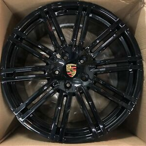 20 Porsche Panamera S Turbo Gts 2018 19 Hybrid Oem Wheels Rims New Black Set 4