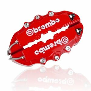 4pack Red 3d Brembo Style 2 Front 2 Rear Universal Disc Car Brake Caliper Covers