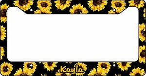 Personalized Sunflowers License Plate Frame