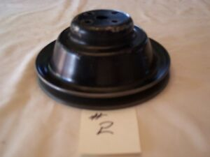 1957 Chevy F I Water Pump Pulley 2 Deep Groove Corvette 348 409 Rat Rod Hot 57