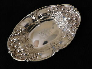 Gorham Antique Sterling Silver Bowl 8 3 4 X 5 5 8 170 Grams 4254 A