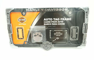 Harley Davidson Interchangeable Skull Or Bar Shield Auto License Plate Frame