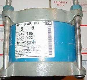 Smith blair 6 Pipe Coupling 44107650722931 Type 441 New Stainless Steel Bolts