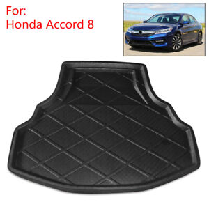 Black Rear Trunk Tray Boot Liner Cargo Floor Mat Fit For Honda Accord 8 08 12