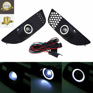 Halo Ring Fog Lights Lamps Pair Grille Fit For Mitsubishi Lancer 2008 2014