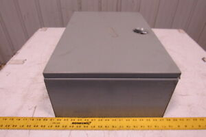 Hoffman A 24n16blp 24 X 16 X 8 Type 1 Non Locking Electrical Enclosure